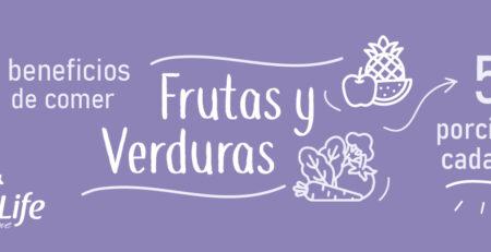 Consume frutas y verduras